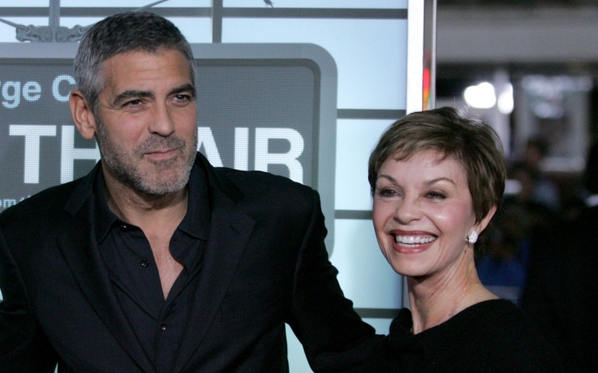 Mandatory Credit: Photo by Matt Baron/BEI/REX (1051640bc)  George Clooney and mother Nina  'Up In The Air' film premiere, Los Angeles, America - 30 Nov 2009