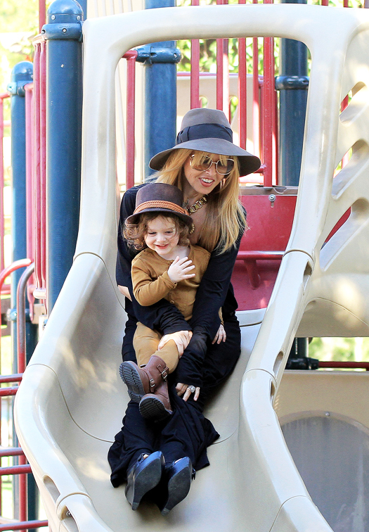 NO JUST JARED USAGE Rachel Zoe and Skyler having fun at the Coldwater Canyon Park. Pictured: Rachel Zoe and Skyler Berman Ref: SPL522624  070413   Picture by: Splash News Splash News and Pictures Los Angeles:310-821-2666 New York:212-619-2666 London:870-934-2666 photodesk@splashnews.com