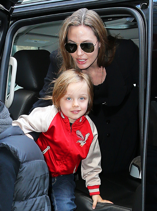 Angelina Jolie takes Knox and Pax to FAO Schwarz in NYC. Pictured: Angelina Jolie, Knox Jolie-Pitt and Pax Jolie-Pitt Ref: SPL521272  050413   Picture by: Jackson Lee / Splash News Splash News and Pictures Los Angeles:310-821-2666 New York:212-619-2666 London:870-934-2666 photodesk@splashnews.com