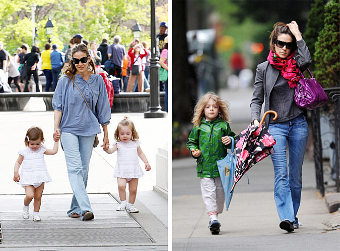 60689, NEW YORK, NEW YORK - Sunday May 8, 2011. Sarah Jessica Parker takes adorable twins Marion and Tabitha to Washington Square Park on Mother's Day. Sarah, who was dressed in all blue, walked hand in hand with her daughters and stopped to watch street musicians and dancers. **BRAZIL OUT** Photograph: © Wagner Az, PacificCoastNews.com **FEE MUST BE AGREED PRIOR TO USAGE** **E-TABLET/IPAD & MOBILE PHONE APP PUBLISHING REQUIRES ADDITIONAL FEES** UK OFFICE:+44 131 557 7760/7761 US OFFICE:1 310 261 9676
