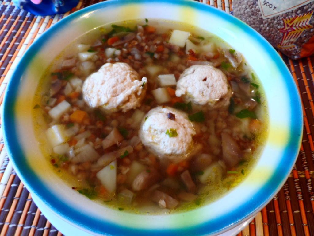 Гречневый суп с фрикадельками рецепт с фото