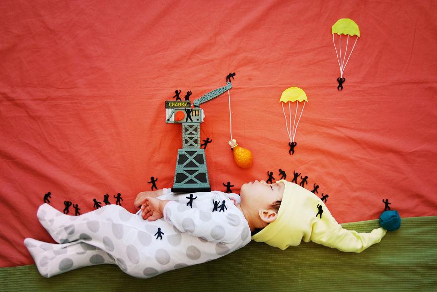Фотосессия спящих детей в домашних условиях идеи фото