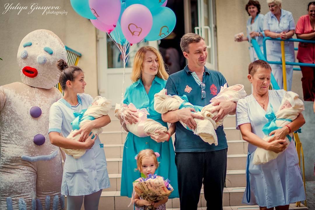 Одесские пятерняшки: счастливая фотосессия многодетной семьи