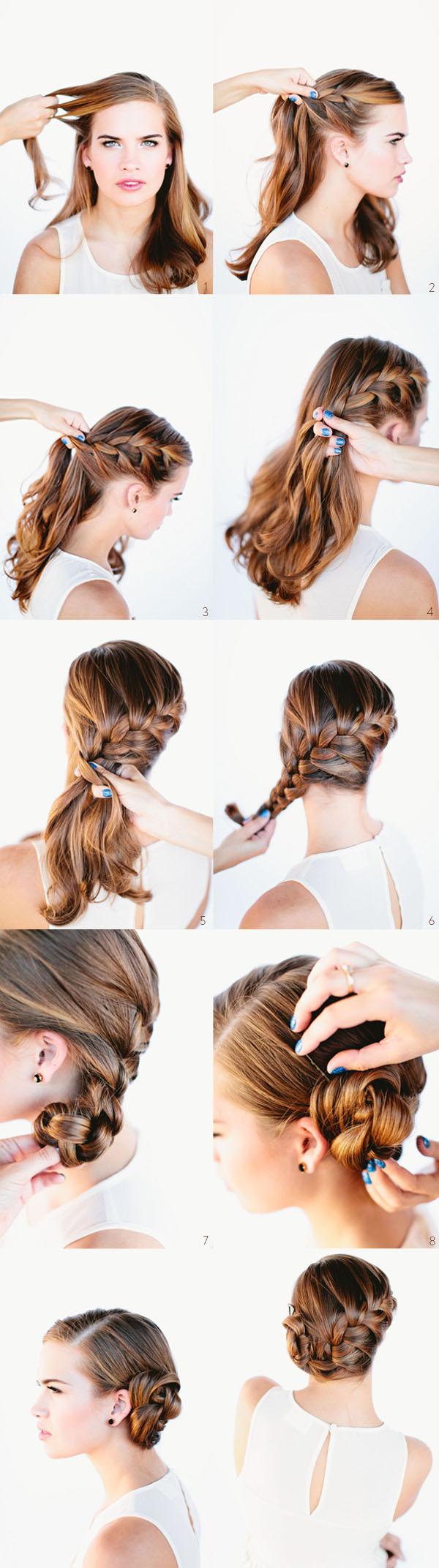 Причёски на длинные волосы на торжество пошагово