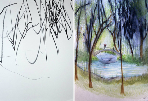 Мама создает настоящие шедевры на основе рисунков 3-летней дочери: 11 фото