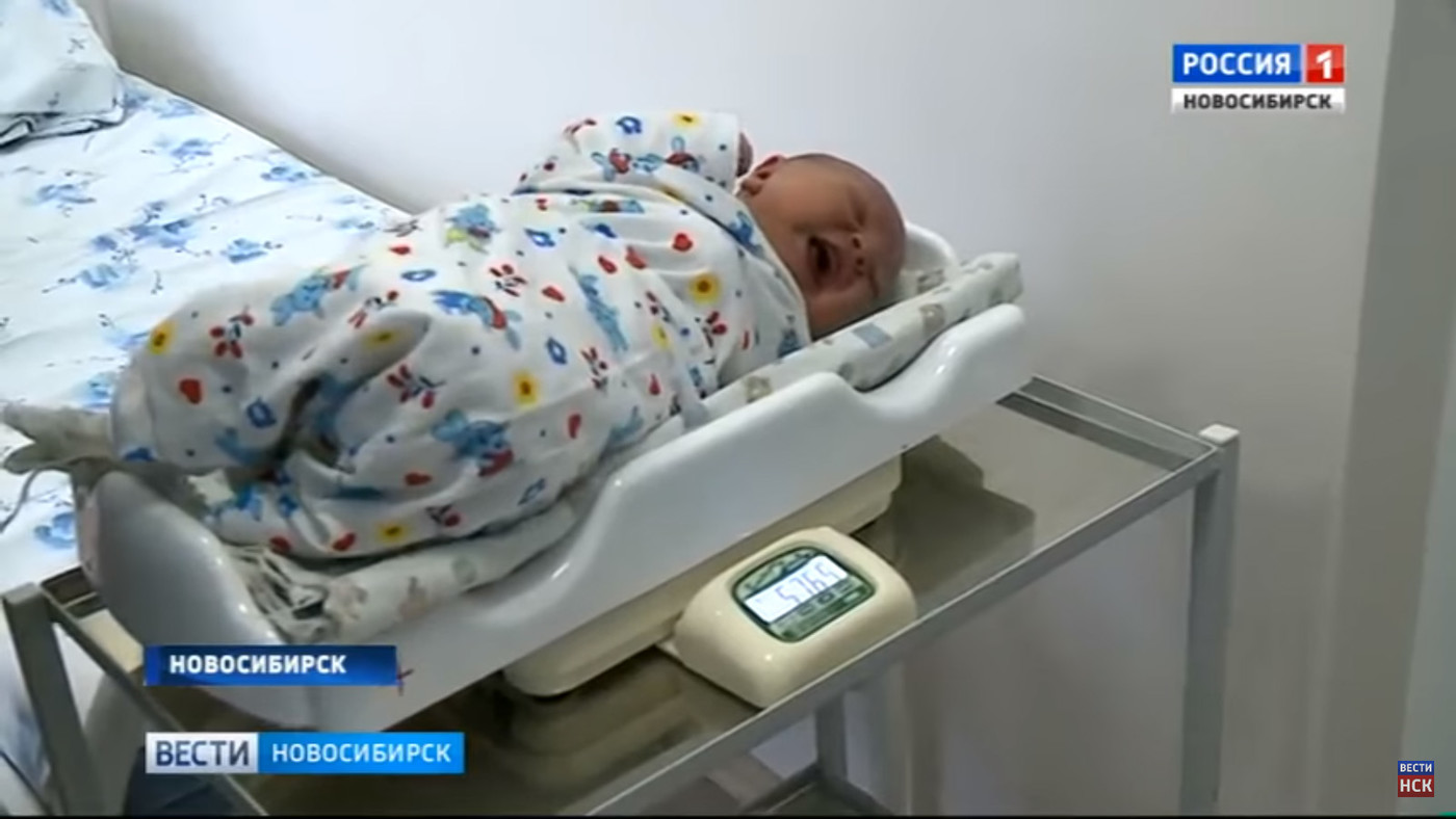 Новосибирский богатырь: мама родила мальчика весом 5 кг