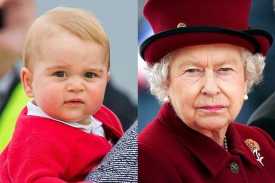 Яблоко от яблони: как похожи принц Джордж и Елизавета II - 6 смешных фото