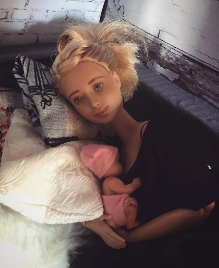 Беременная Барби: мама из Австралии создает детских кукол