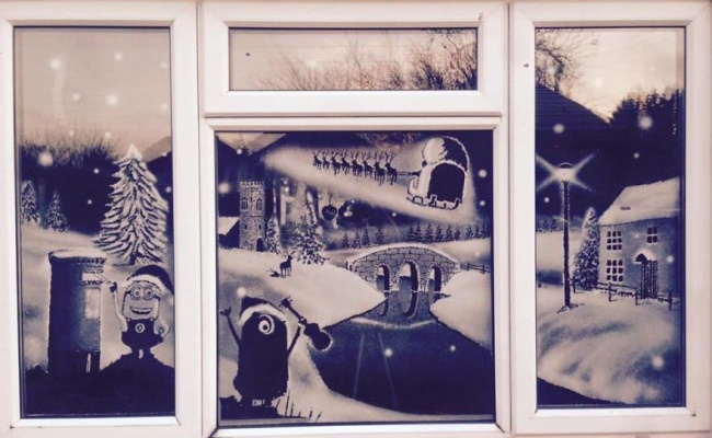 Снегом белым: художник из Британии создает сказку в детской больнице
