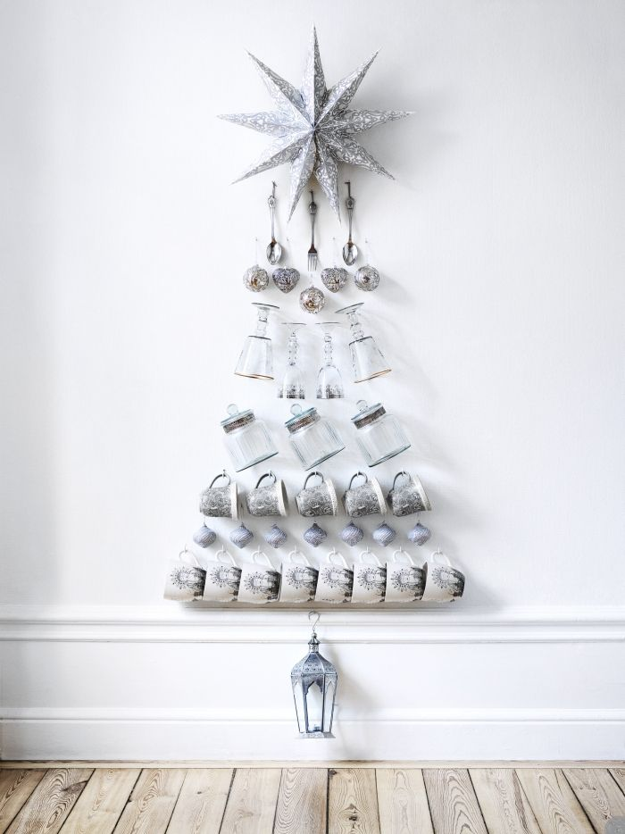 Новогодняя елка из подручных средств: 15 креативных вариантов