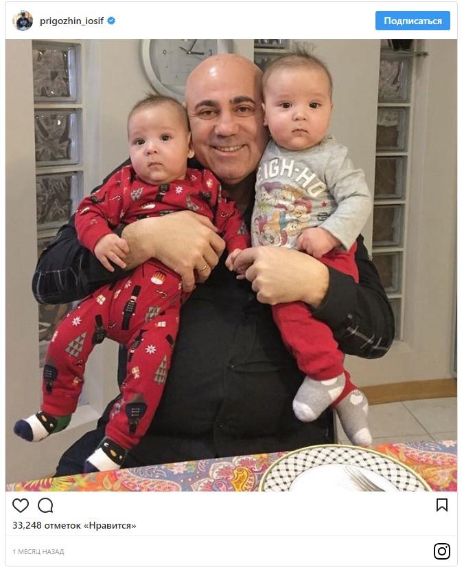 Тайна раскрыта: Иосиф Пригожин признался, чьих малышей держит на руках