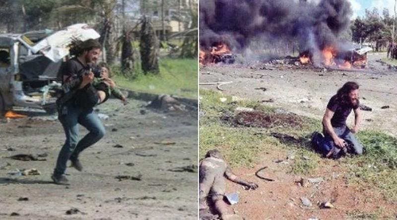 Фотограф бросил камеру и кинулся в огонь, чтобы спасти умирающего ребенка