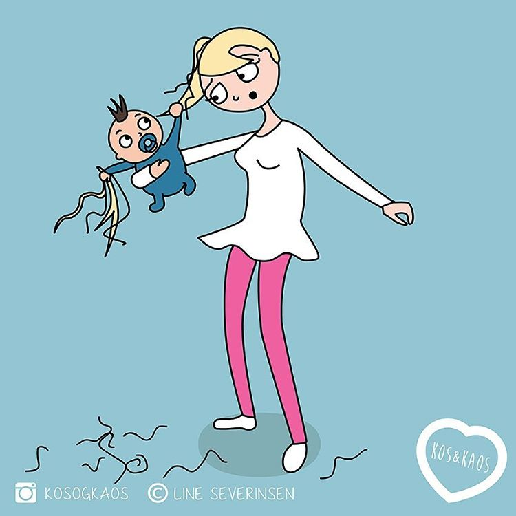 12 правдивых иллюстраций о буднях молодой мамы, где каждая узнает себя