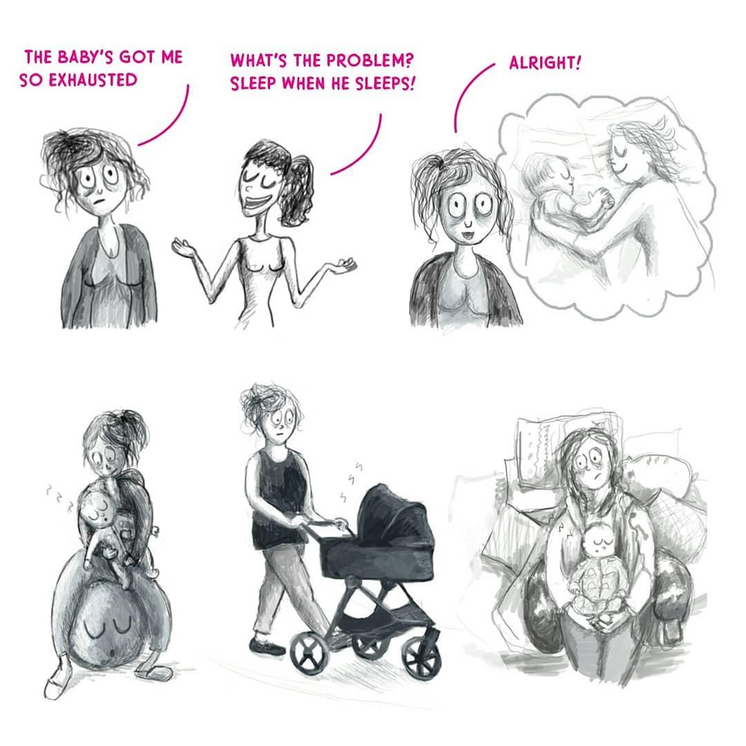 Художница рисует комиксы из своей жизни, где каждая мама узнает себя