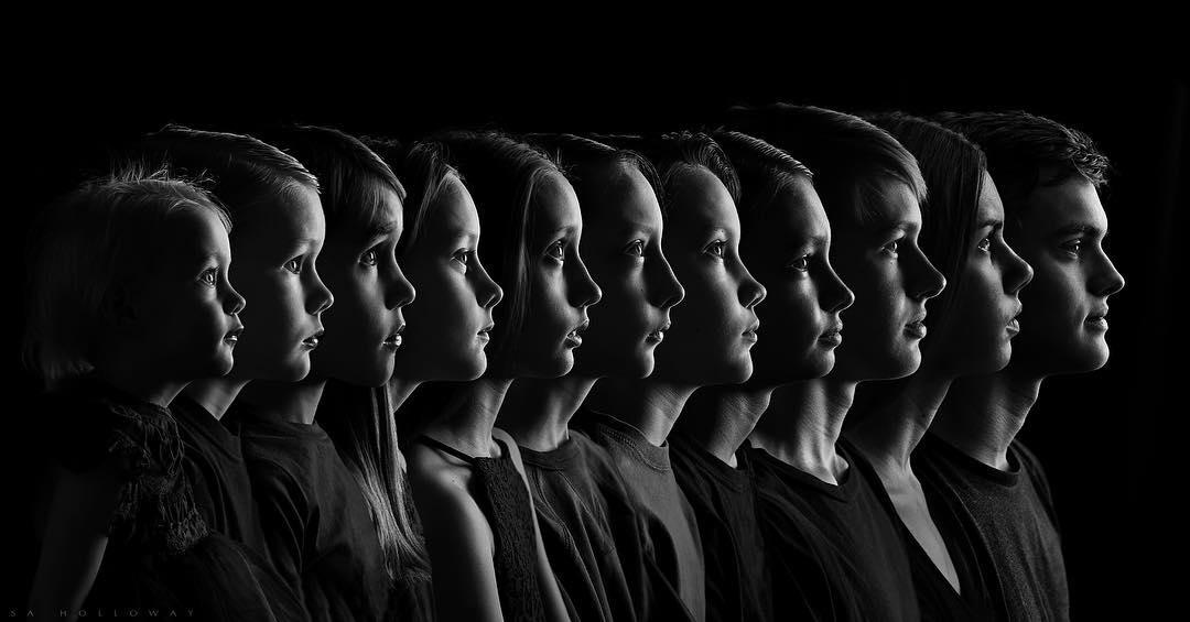 Жизнь в одном кадре — мама из США сделала гениальный снимок всех 11 детей