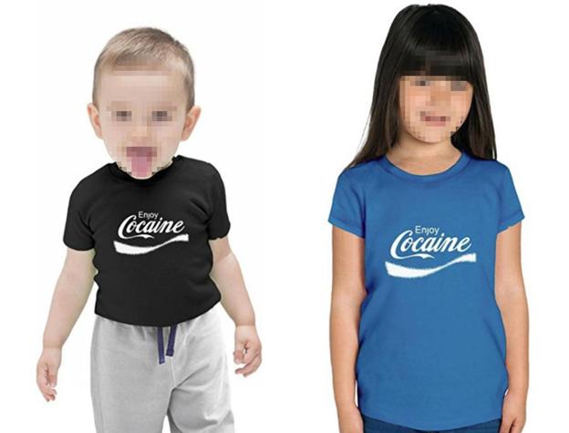Enjoy Cocaine: в соцсетях разгорелся скандал из-за надписи на детских футболках