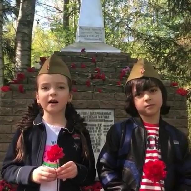 Как российские звезды с детьми отпраздновали 9 Мая