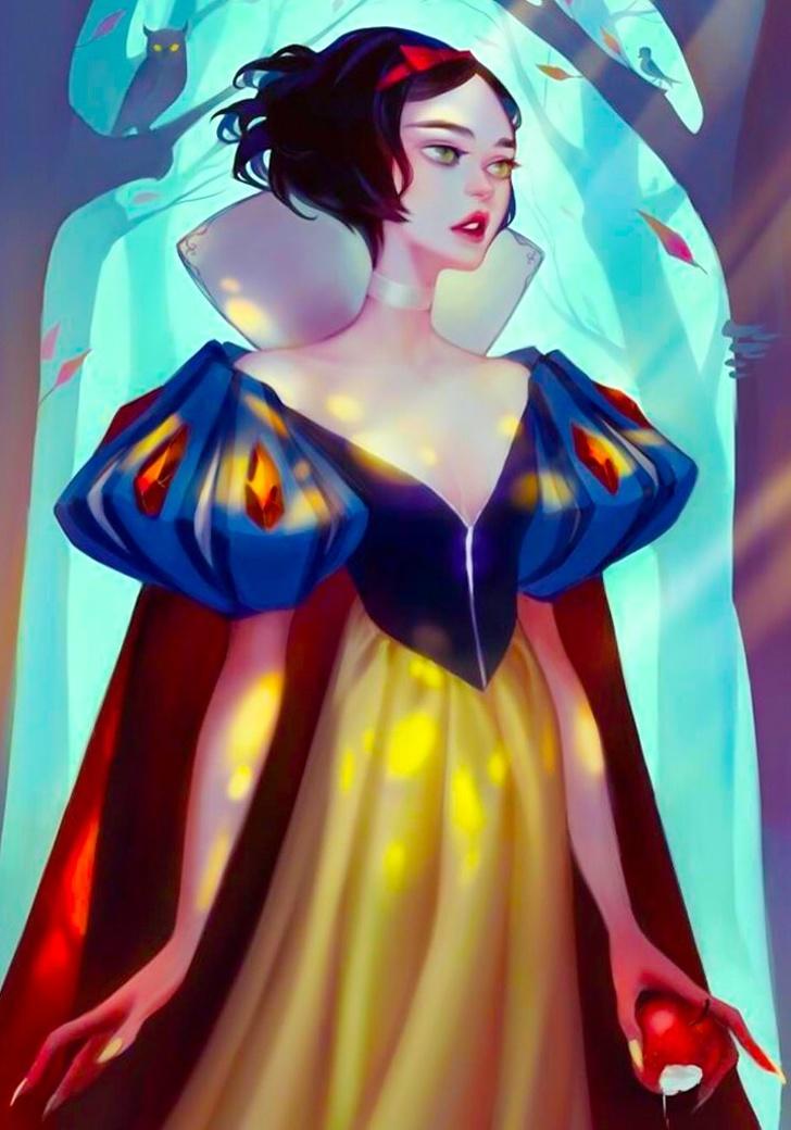 Художница показала, как смотрелись бы принцессы Диснея, если бы пошли в модели
