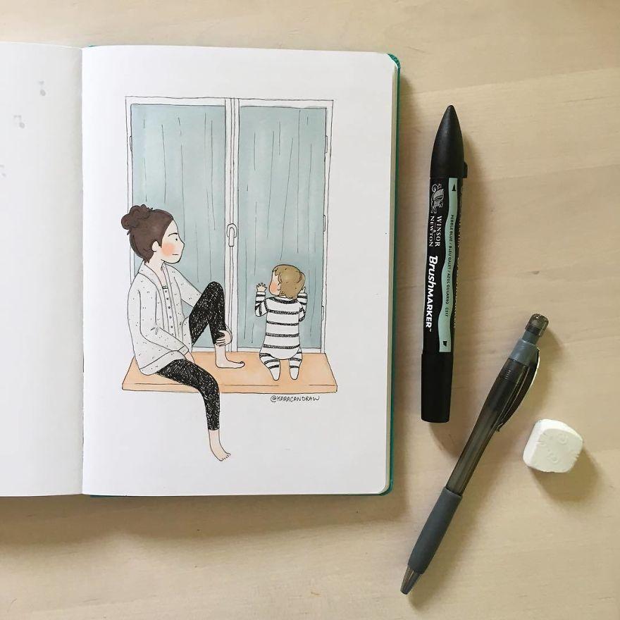 21 иллюстрация о простых моментах, очень дорогих сердцу каждой мамы