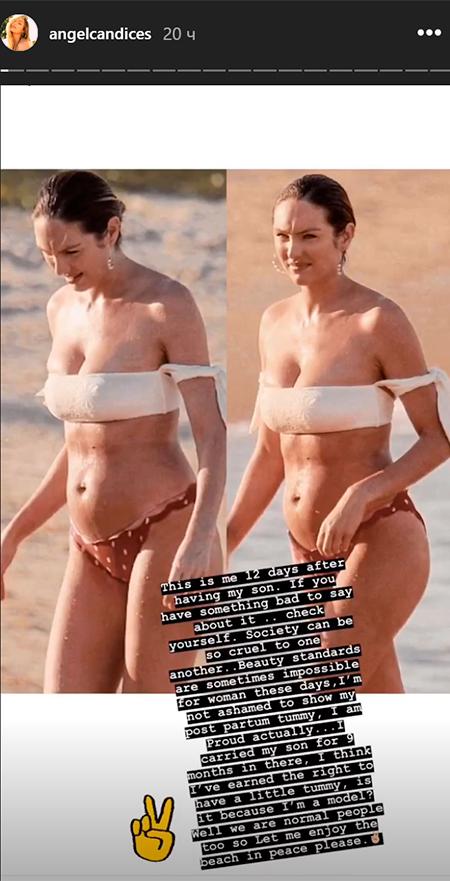 Модель Victoria's Secret осудили за пляжные фото спустя 2 недели после родов