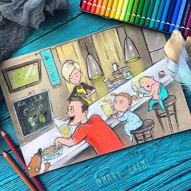 Когда у тебя двое детей: 14 комиксов, которые вызывают не стресс, а улыбку