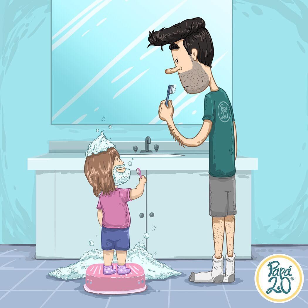 Каково это — быть папой маленькой принцессы: 10 смешных комиксов