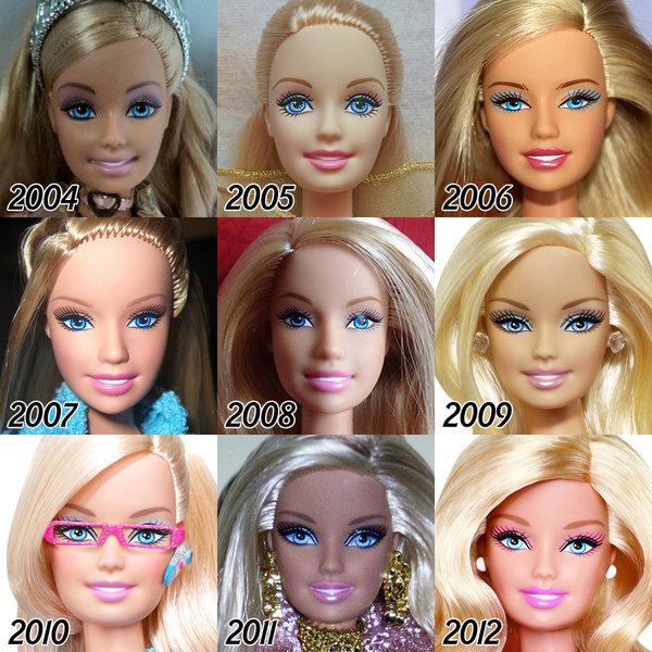 А ей почти 60: как изменилась кукла Барби за все эти годы