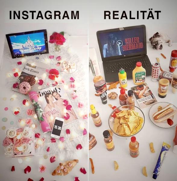 Как идеальная жизнь из Instagram выглядит в реальной жизни (10 ироничных примеров)