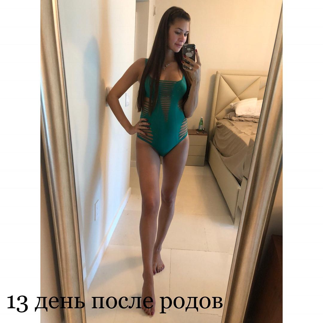 Мало сплю и кормлю грудью: А. Шубская вернулась форму за 13 дней после родов