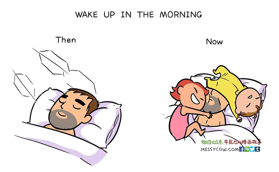 10 правдивых комиксов о том, как дети меняют жизнь мужчины (женский взгляд)