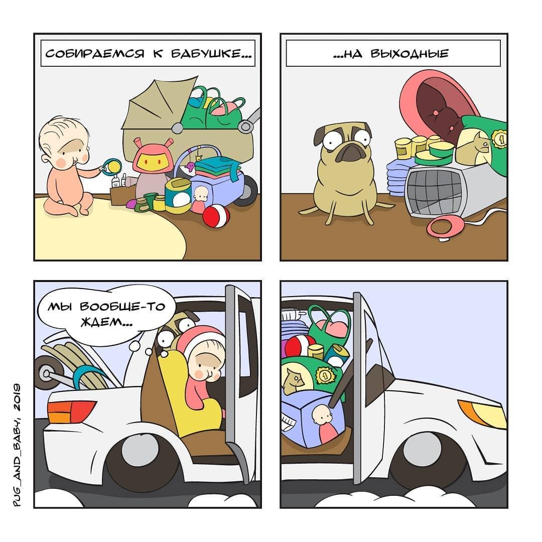 Молодая мама училась на сантехника, но нашла себя в забавных комиксах о материнстве и мопсе Люсе