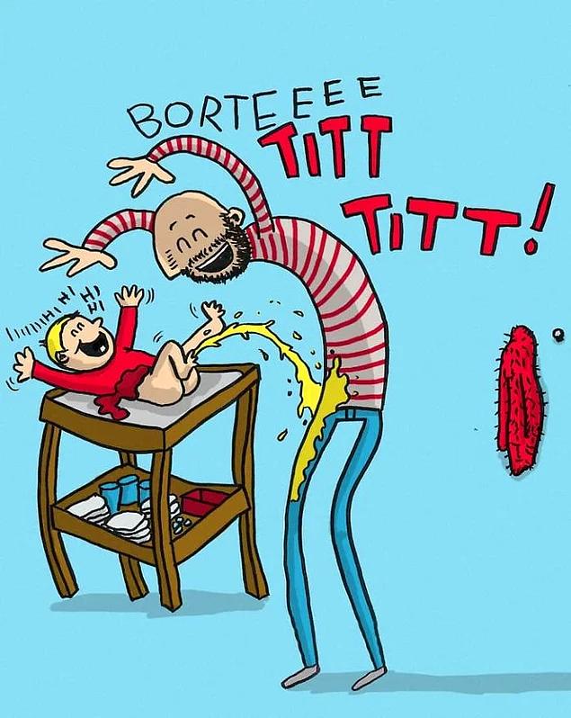 12 ироничных комиксов о буднях папы в декрете, в которых каждый мужчина узнает себя