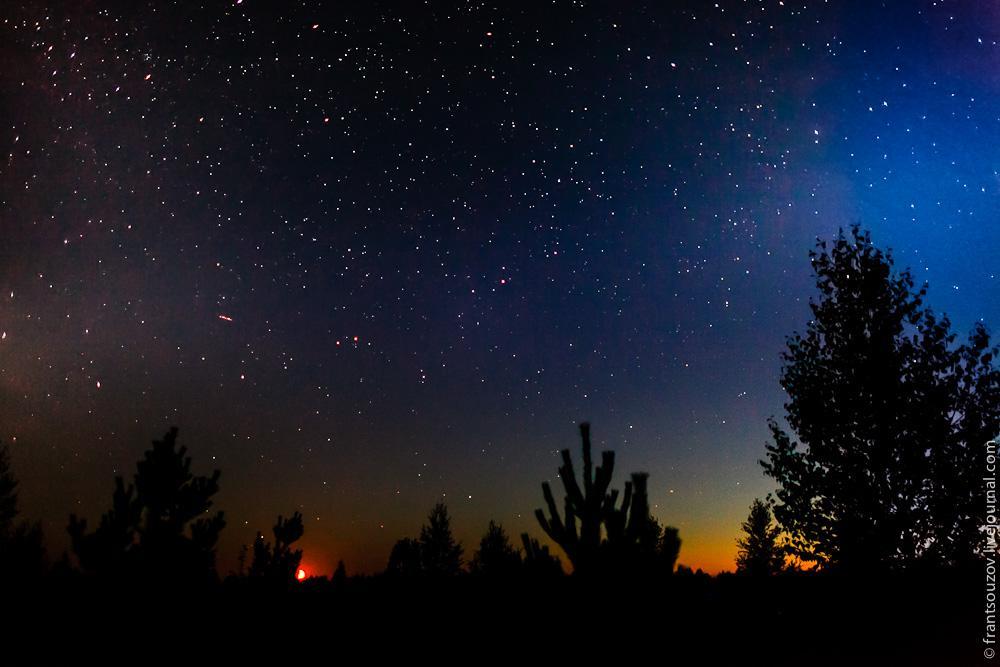 душа звездное небо в деревне фото правильно